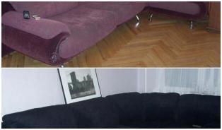 Как перетянуть диван