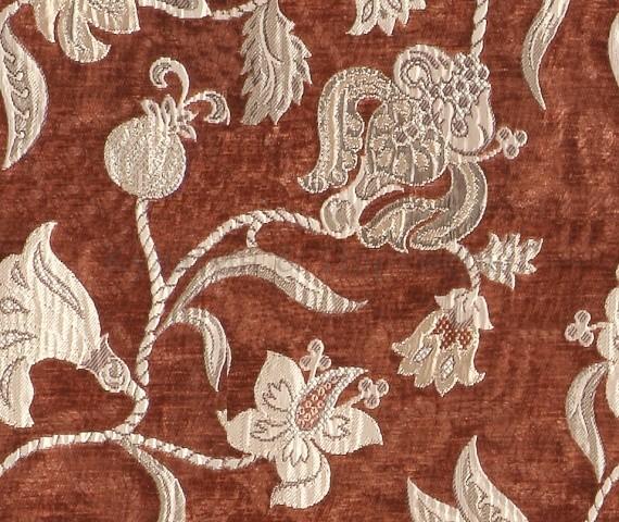 Обивочная мебельная ткань шенилл Frais 6489