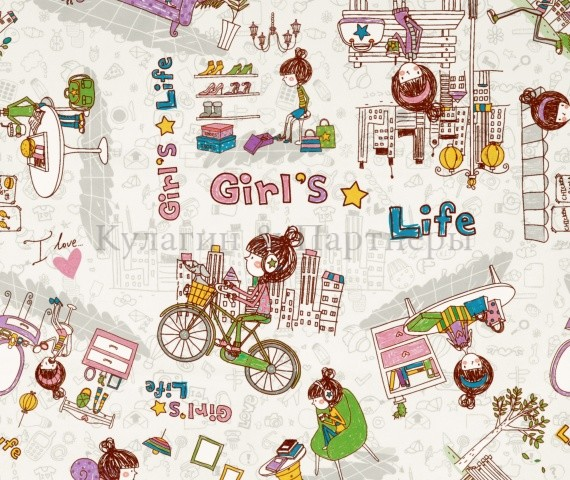 Обивочная мебельная ткань Girls Life 01