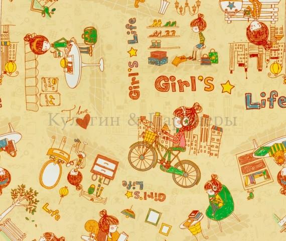 Обивочная мебельная ткань Girls Life 02