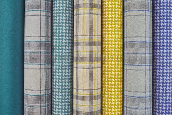 Обивочная мебельная ткань флок Lana Chess