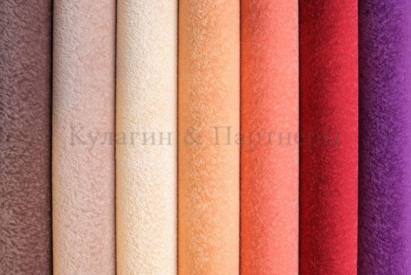 Обивочная мебельная ткань флок Perfecto