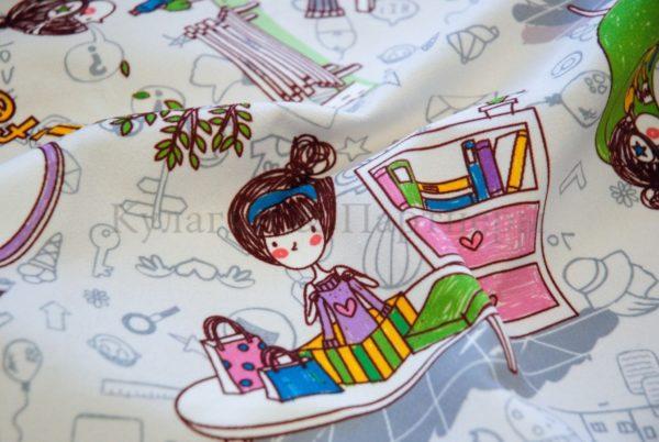 Обивочная мебельная ткань микровелюр Girls Life