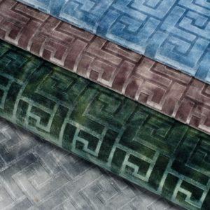 Обивочная мебельная ткань велюр Hermes