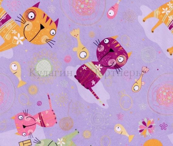 Обивочная мебельная ткань микровелюр Cats 04