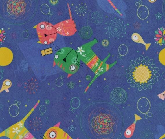 Обивочная мебельная ткань микровелюр Cats 05
