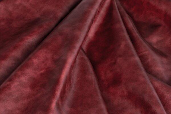 Ткань натуральная кожа Club Scarlet