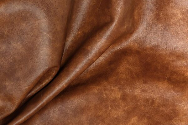Ткань натуральная кожа Cognak