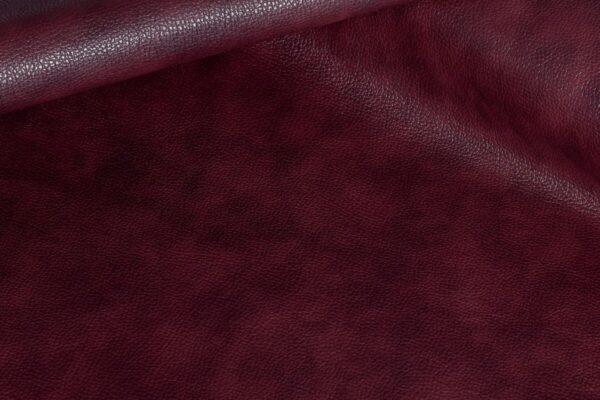 Ткань натуральная кожа Stella Clean Bordo