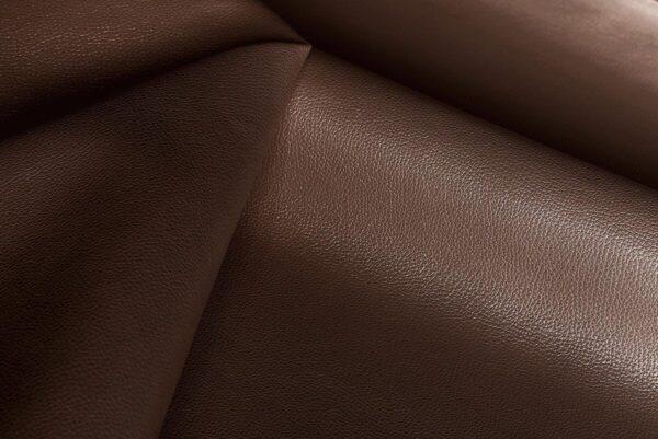 Ткань натуральная кожа Stella Clean Chocco