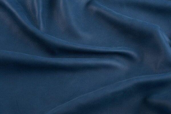 Ткань натуральная кожа Vintage Blue